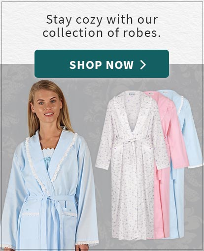 Image: a model wearing The 1 For U Abigail Robe in Blue colorway